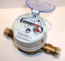 1___ Aquadis+ NÁ15, Qn 1,5 m3/, L=165 mm, forgó dugattyús hidegvízmérő