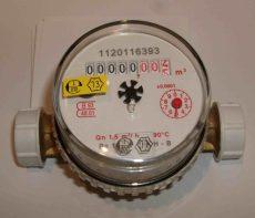 2___ Lakásvízmérő NÁ15, 2,5 m3/h, L=110 mm, melegvizes