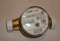 4___ Lakásvízmérő NÁ20, 4 m3/h, L=130 mm, melegvizes