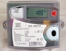 GANZ CF51 tip. elektronikus hőmennyiségmérő számlálómű