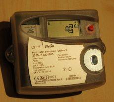CF55 tip. elektronikus hőmennyiségmérő számlálómű data-loggerrel