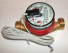 12___GSD tip. lakásvízmérő, NÁ15, Qn 2,5 m3/h,  melegvizes, impulzusadós