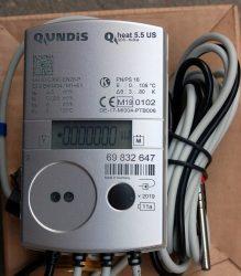 33_____Qundis Qheat 5.5 US tip, NÁ20 ultrahangos hőmennyiségmérő, fűtés-hűtés mérésére, M-Bus, MID