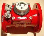 84___ MWN Woltmann forróvízmérő NÁ100, Qn=60 m3/h, Tmax:130 C,  L=250 mm, karimás, impulzusadós