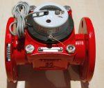 81___ MWN Woltmann forróvízmérő NÁ50, Qn=15 m3/h, Tmax:130 C,  L=200 mm, karimás, impulzusadós