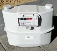 12___ ITRON membrános gázmérő G6, L=250 mm, MID