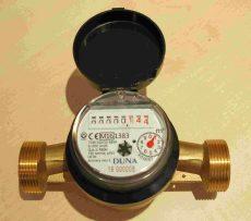 DUNA tip. NÁ25 hidegvízmérő, Q3=6,3 m3/h, L=160 mm, MID hit., imp. elők.