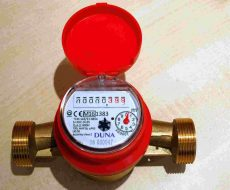 DUNA tip. NÁ25 melegvízmérő, Q3=6,3 m3/h, Tmax: 90 C, L=160 mm, MID hit., imp. elők.