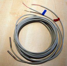 Hőmérséklet érzékelő pár, Pt100, átm: 6 mm,  L=50 mm, kábelhossz 5 m