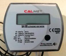23___Calmet ultrahangos kompakt hőmennyiségmérő fűtés-hűtés, kombinált üzemmódra NÁ15, Qp=1,5 m3/h, L=110 mm, MID hitelesítéssel