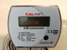 24___Calmet ultrahangos kompakt hőmennyiségmérő fűtés-hűtés, kombinált üzemmódra NÁ20, Qp=2,5 m3/h, L=130 mm, MID hitelesítéssel