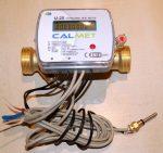 34___Calmet ultrahangos kompakt hőmennyiségmérő fűtés-hűtés, kombinált üzemmódra NÁ25, Qp=3,5 m3/h, L=160 mm, MID hitelesítéssel