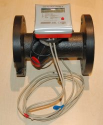41___Calmet ultrahangos kompakt hőmennyiségmérő fűtés-hűtés, kombinált üzemmódra NÁ50, Qp=15 m3/h, L=200 mm, MID hitelesítéssel